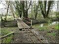 TM0880 : Narrow gauge railway bridge over the River Waveney by Adrian S Pye