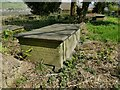 SE0423 : St Peter's church, Sowerby - the innkeeper's tomb by Stephen Craven