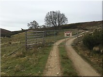 NH7723 : Tomatin Estate Gate to Hill Track by thejackrustles