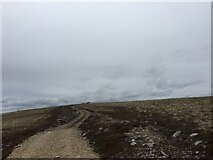 NH7720 : Nearly there Carn Dubh Ic An Deoir Trig Point on the horizon by thejackrustles