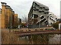 SP3478 : Coventry University campus viewed from ponds by Whitefriars by Alan Paxton