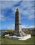 NJ4567 : Findochty War Memorial by Anne Burgess