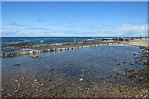NJ4467 : Strathlene Swimming Pool by Anne Burgess