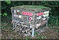 SJ7577 : Bug hotel on Higher Town Green by Alan Pickup