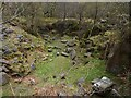 SK2579 : Abandoned quarry in Padley Gorge by Graham Hogg