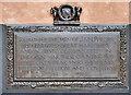 SJ8498 : J and N Philips War Memorial (detail - Dedication Plaque) by David Dixon