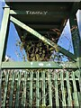 SK4934 : Footbridge pylon by David Lally