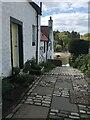 NT1877 : Steps at Cramond by Barbara Richardson