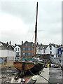 SX9687 : Historic Thames sailing barge, Topsham by Chris Allen