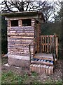 SK3781 : Compost toilet in Friends' Field, Moss Valley by Alan Paxton