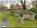 SK6946 : Chest tombs in St Michael's churchyard by Alan Murray-Rust