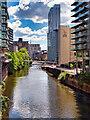 SJ8398 : River Irwell, Blackfriars by David Dixon