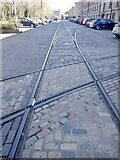 NT2676 : Rails of old Leith docks, Commercial Quay by Richard Webb