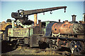 NZ2057 : Tanfield Railway - unrestored crane tank locomotive by Chris Allen