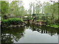 TM3155 : Sluice and weir in the River Deben by Adrian S Pye