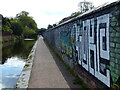 SP0585 : Graffiti along the Worcester and Birmingham Canal by Mat Fascione