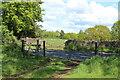 SO3609 : Ornate roadside gates Clytha Park by M J Roscoe