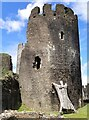ST1587 : Caerphilly Castle - Holding up the Southeast Tower! by Rob Farrow