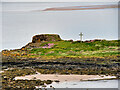 NU1241 : Medieval chapel on St Cuthbert's Isle by David Dixon