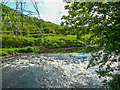 SE1222 : Rapids on the River Calder, Southowram by Humphrey Bolton