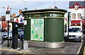R3377 : Public toilet and town map, Upper Market Street, Ennis, Co. Clare by P L Chadwick