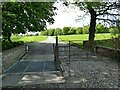 SJ7774 : Gate and cattle grid, Peover Hall estate by Stephen Craven