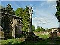 SJ7773 : St Lawrence, Over Peover - Mainwaring cross by Stephen Craven
