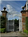 SJ7773 : Gates adjacent to Peover Hall stables by Stephen Craven