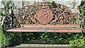 SE1785 : Cast iron bench at Jervaulx Abbey by Rich Tea