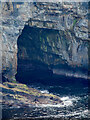 HY2214 : Sea cave, Geo of Inganess by Mick Garratt