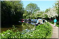 SP0271 : Narrowboats moored along the Worcester and Birmingham Canal by Mat Fascione