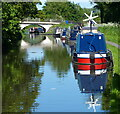 SP0274 : Narrowboats moored along the Worcester and Birmingham Canal by Mat Fascione