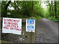 SO7099 : Signs on former railway by Philip Halling