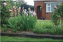 TL9312 : Front garden on Station Road, Tolleshunt D'Arcy by David Howard