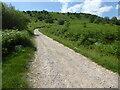 SO7638 : Path along the bottom of Swinyard Hill. Malvern Hills by Chris Allen