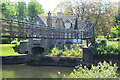 SO3109 : Suspension bridge by Old Mill House, Llanover by M J Roscoe