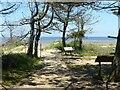 TF7145 : Footpath crossroads, Holme Dunes by Alan Murray-Rust