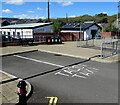 SN7810 : Small taxi rank in Ystradgynlais Interchange by Jaggery