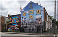 J3175 : Paramilitary mural, Belfast by Rossographer