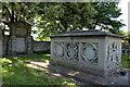 SO3109 : Sarcophagus, St Bartholomew's Churchyard by M J Roscoe