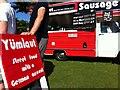 SP3165 : German vege-sausage van, Leamington Peace Festival by Alan Paxton