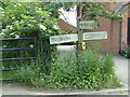 TL8738 : Signpost on Henny Road (Lower Road) by Geographer