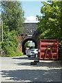 SO8657 : Blackpole Trading Estate West - railway bridge by Chris Allen