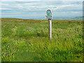 SE0213 : National Trust sign for Burne Moss, Marsden Moor by Humphrey Bolton