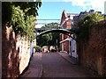 SX9292 : Burnet Patch Bridge, city walls, Exeter by Alan Paxton