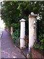 SX9292 : Gateposts on Magdalen Road, Exeter by Alan Paxton