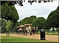 TQ1568 : Horse-drawn trip around Hampton Court Palace Gardens by Martin Tester