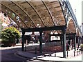 SX9192 : Underside of the Iron Bridge, Exeter by Alan Paxton