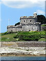 SW8432 : St Mawes Castle from the ferry by Roy Hughes