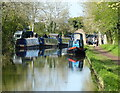 SO9162 : Narrowboats moored along the Worcester and Birmingham Canal by Mat Fascione